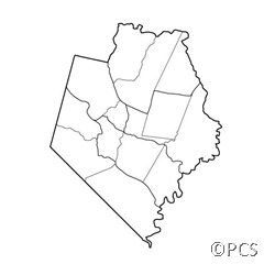 Rockcastle County with district and precints