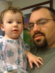 Bug and I before surgery